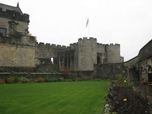 Part of garden, and James IV gatehouse, Stirling Castle