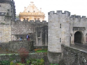 Stirling Castle, James IV gatehouse with great hall behind, and base of removed flanking tower