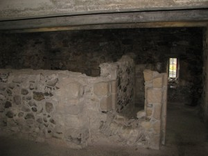 Stirling Castle, basement of tower, c1390